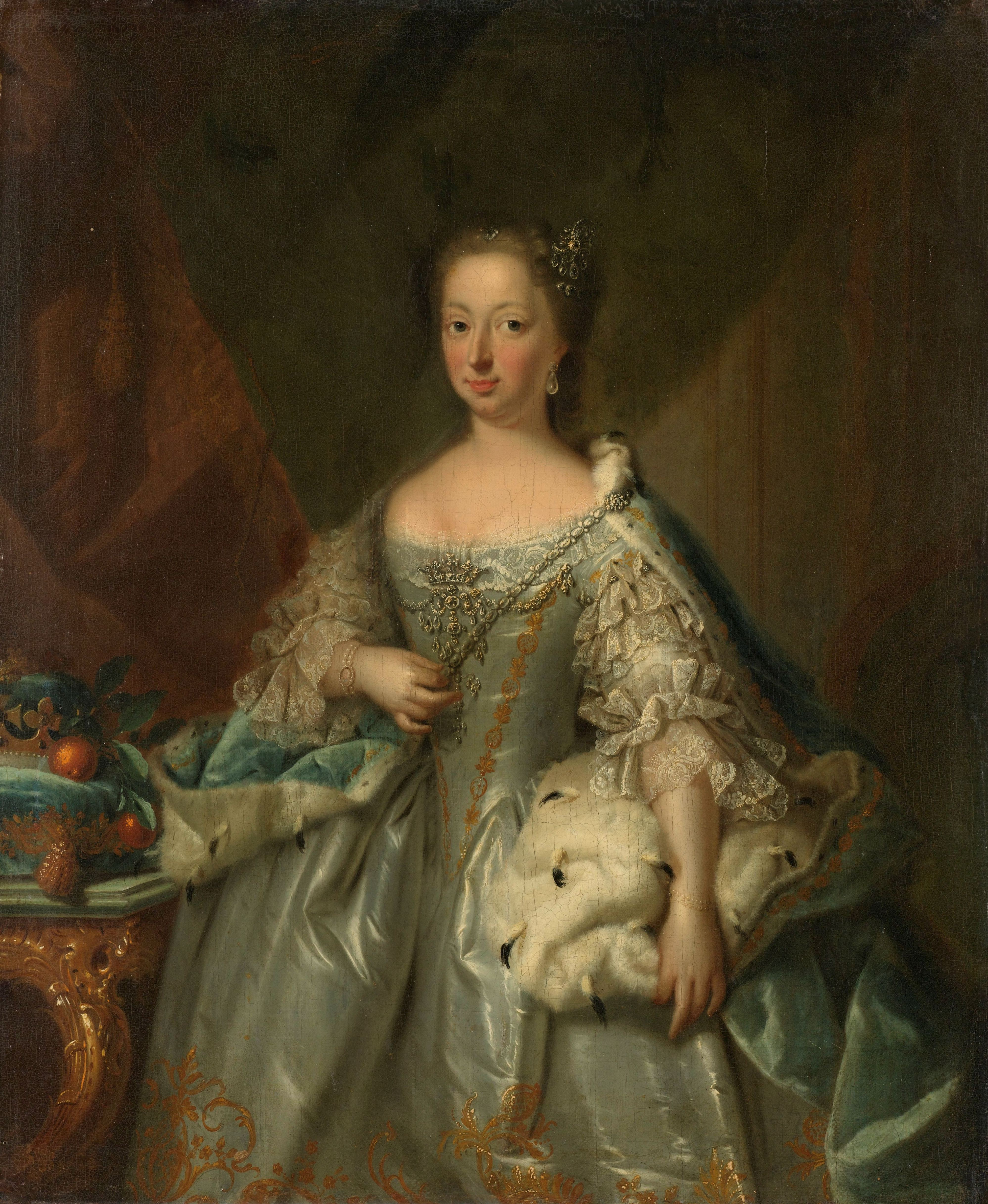 Afb. 1: Portret van Anna van Hannover, J.V. Tischbein, 1753. Rijksmuseum, Amsterdam.