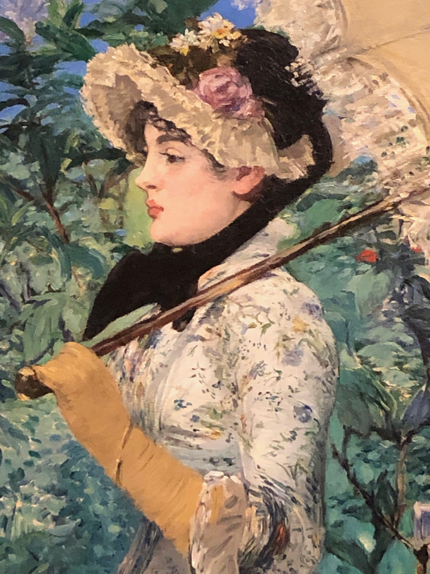 Modemuze. Nina Groeskamp, Americana, Los Angeles, The J. Paul Getty Museum, Edouard Manet, Modern Beauty, mode, kunst; Édouard Manet, Jeanne (Spring), 1881, The J. Paul Getty Museum, Fotograaf: Nina Groeskamp.