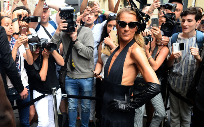Céline Dion in Schiaparelli, Paris Fashion Week, 2019, foto: © footwearnews