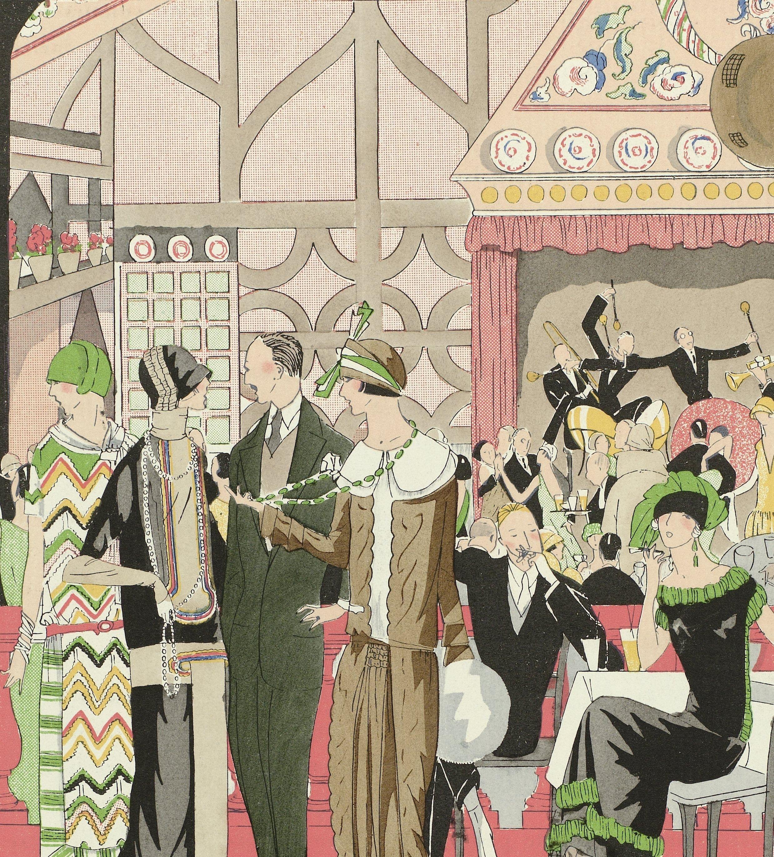 Detail van Art - Goût - Beauté, Feuillets de l' élégance féminine, Janvier 1924, No. 41, 4e Année, p. 13, anoniem, 1924, Rijksmuseum.
