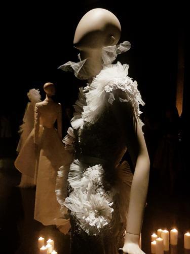 Detail van een van de kostuums gepresenteerd door Edwin Oudshoorn. Foto: Charlotte de Gier.