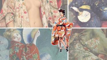 Kiko Mizuhara in kimono. Beeld: Volkskrant.
