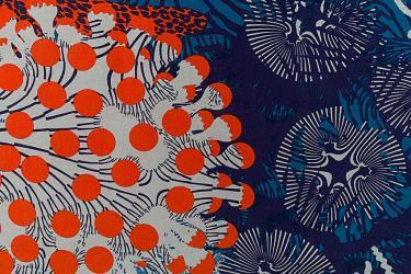 Gordijnstof 'Merivuokko' voor Marimekko (Finland), ontwerper Kustaa Saksi, 2013-2015, TextielMuseum nr. 17707, foto Josefina EikenaarTextielMuseum