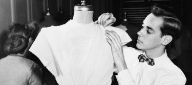 Dressmaker in the workshop.