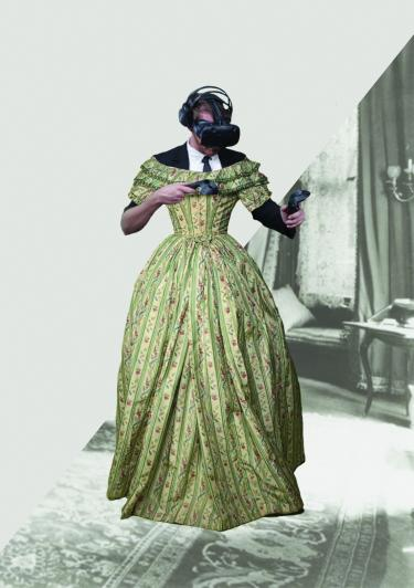 Virtual Reality Dress, 2017, project en impressie door Thomas en Laura (Interaction Design, ArtEZ)