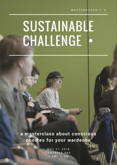 Campagnebeeld Masterclass 2 Sustainable Challenge