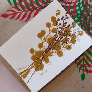 Cursusmiddag blockprint je eigen boekbinderslinnen en schutbladen