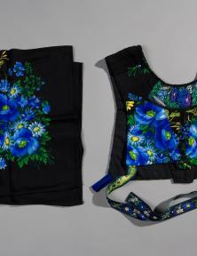 Een onverknipte shawl en een 'doekjeswollen kraplap' van dezelfde shawl