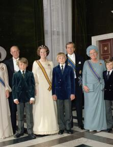 Inhuldiging Koningin Beatrix, 30 april 1980, fotocollectie RVD/Koninklijk huis. Foto: Max Koot.
