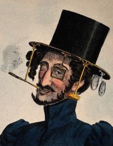Detail Revolving Hat, 1830.