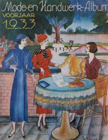 Cover van het Mode- en Handwerk-Album, voorjaar 1933.