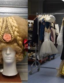Kostuums van Toneelgroep De Appel. Foto links: Veronica Saenz, foto rechts: Lisa Whittle.