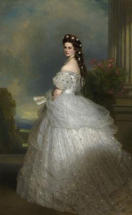 Elisabeth in galajurk,1865,Foto Gerald Schedy