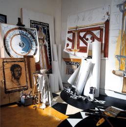 RAVAGE's atelier, studio, showroom en kantoor, Parijs, 1986. Foto: © Sigurd Kranendonk.