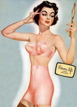 Amerikaanse BH advertentie, 1951, Permalift. Bron: Pinterest.