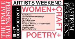 Agenda Modemuze Artist Weekend Women Craft Poetry Castrum Peregrini