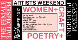 Agenda Modemuze Artist Weekend Women Craft Poetry Castrum Peregrini