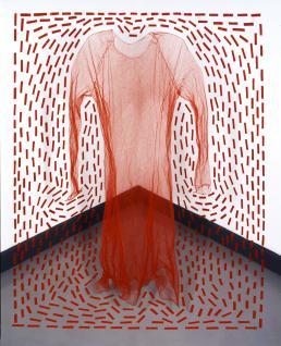Agenda Modemuze Caroline Broadhead tentoonstelling CODA Apeldoorn RED DRESS Space 1 Installatie 2004