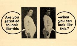 Compilatie van een advertentie van The Weil Health Belt Company voor de 'Wonder Health Belt'. Gepubliceerd in 1916. Bron: Periodpaper.com.