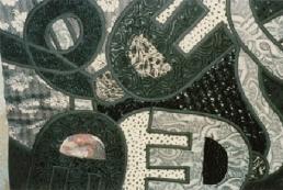 Koos van den Akker, detail van een patchworktrui, eind jaren 80.
