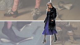 Elk stijlicoon heeft zijn archetypische voorloper. De Gucciklomp van Dakota Johnson stamt uit middeleeuwse modder. Beeld: Volkskrant.