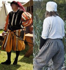 Reconstructies van kleding uit ca. 1574 door Geeske Kruseman.