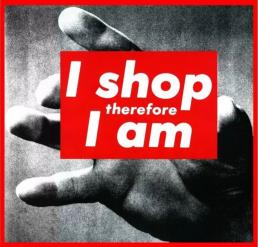 Barbara Kruger, I shop therefore I am, 1987.