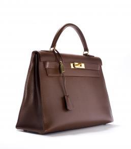 'Kelly' bag (tas) van leer, Hermès, Frankrijk, ca. 1990.