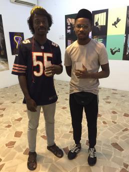 Eddy Okolo en Winston Sylvans.