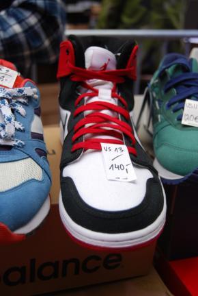 Nike Air Jordan's, remake, van Sascha op Sneakerness.
