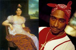 Josephine Bonaparte ca. 1813 en Tupac Shakur ca. 1995.