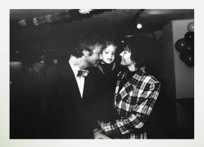 Fransje van der Waals met haar man en dochter, foto: eigendom Fransje