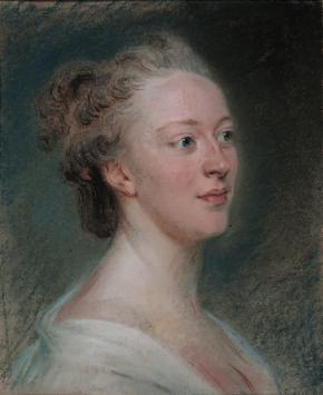 Belle van Zuylen geschilderd door Maurice Quentin de La Tour (1766) in Musée d'art et d'histoire de Genève