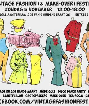 Agenda Modemuze Vintage Fashion Festijn november 2017 Amsterdam