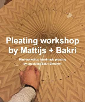 Agenda Modemuze Workshop Pleating Mathijs van Bergen en Bakri Shoukeh