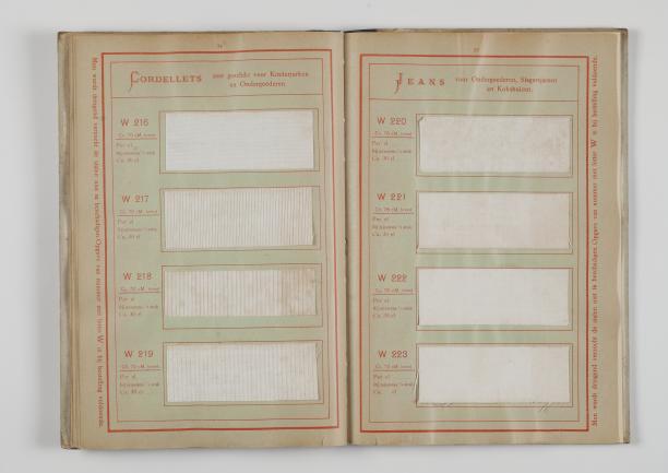 Stalenboek, 1904. TextielMuseum, Tilburg.