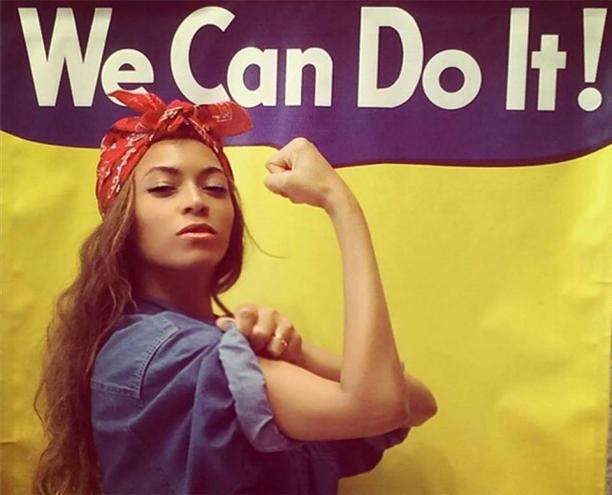 We Can Do It! Beyoncé. Spectrum Simulacrum Textiel februari 2017
