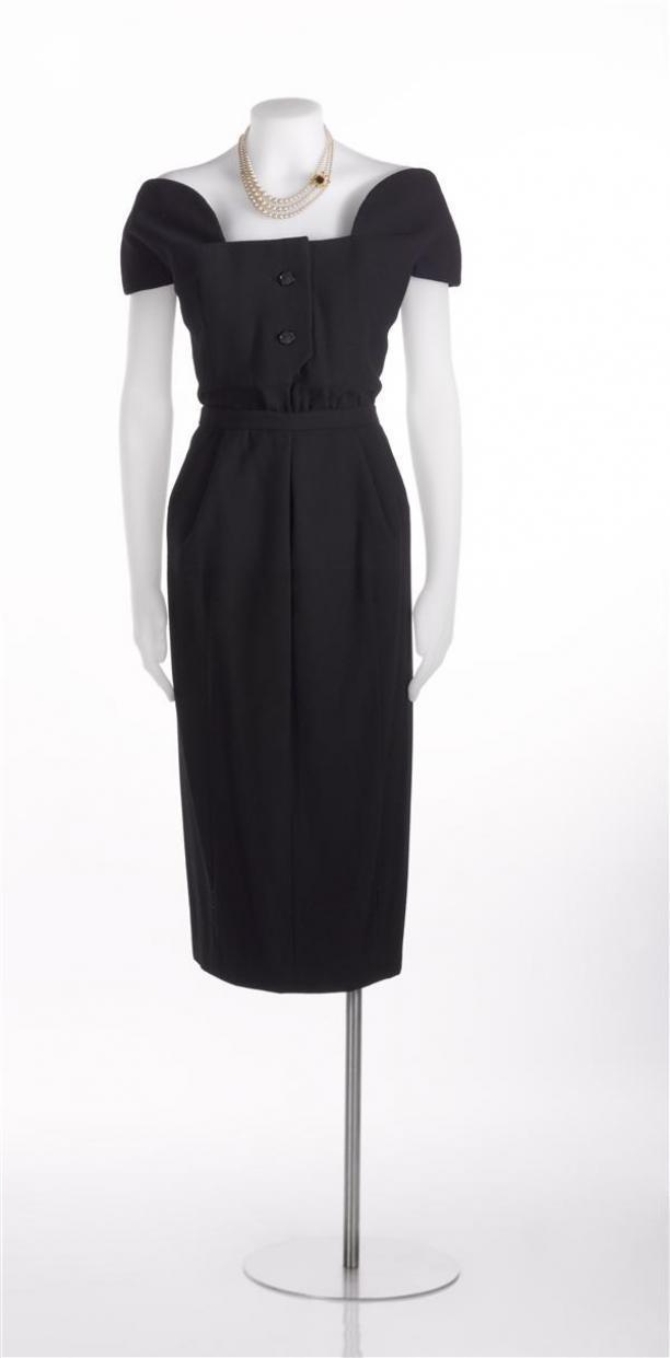 zwarte jurk Dior
