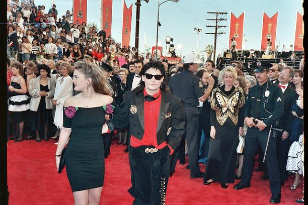 Drew Barrymore en Corey Feldman, 61ste Academy Awards, 1991. Foto: Alan Light.