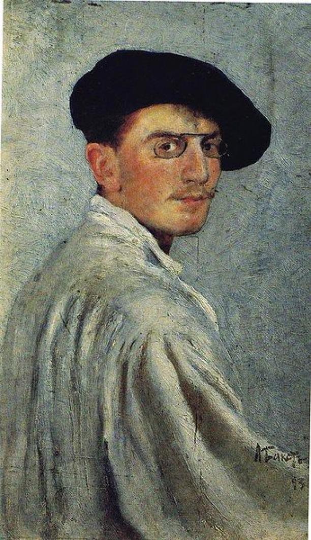 Zelfportret Léon Bakst, 1893, TheState Russian Museum,St. Petersburg, Rusland.