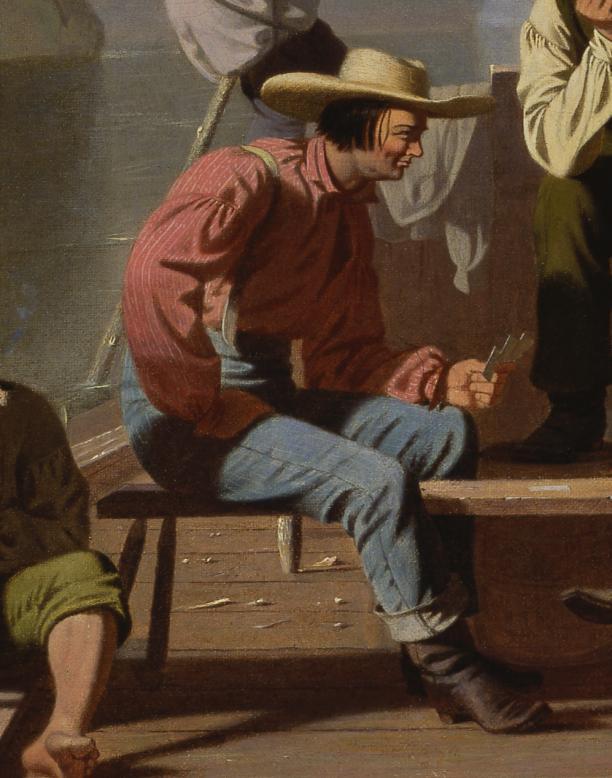 George Caleb Bingham, Raftsmen playing cards, 1847, olieverf op doek. Saint Louis Art Museum, Saint Louis (Illinois), Verenigde Staten, legaat  Ezra H. Linley, inv.nr. 50:1934.
