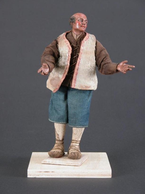 Herder uit de Napolitaanse kerststal, Napels, achttiende eeuw. Museum Catharijneconvent, Utrecht, inv.nr. ABM bh500.22.