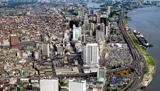 Overview foto Lagos, Nigeria.