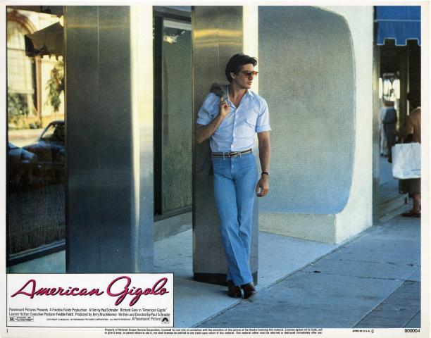 Filmposter voor 'American Gigolo', Paramount Pictures, 1980. Bron: The Measure.