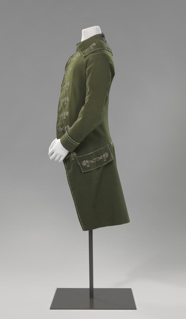 Groene jas gedragen door Jacob Alewijn