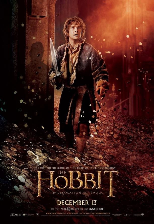 Filmposter voor 'The Hobbit. The Desolation of Smaug', 2013. Bron: LOTR Wiki.