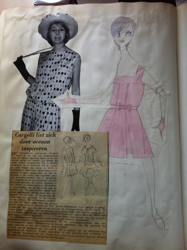 Scan uit plakboek van Cargelli, Museum Rotterdam.