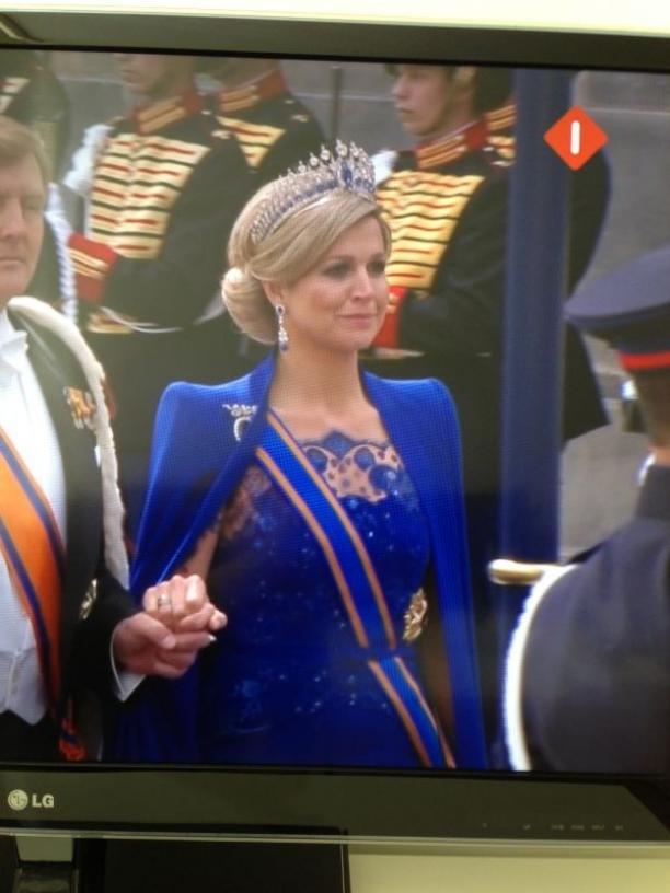 Foto van de uitzending van de Koningsvaart. Foto: Sanne van Gestel.