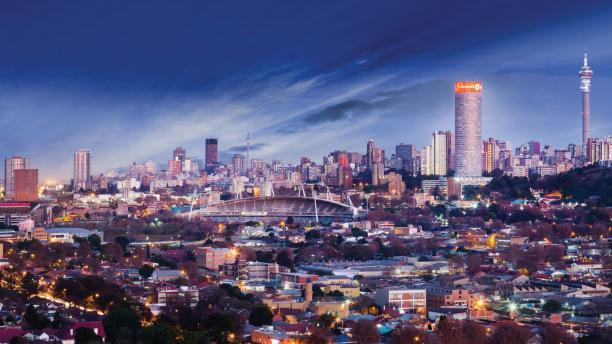 Panorama van Johannesburg.