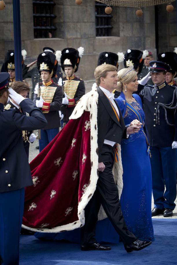 Beëdiging en inhuldiging van Koning Willem-Alexander in de Nieuwe Kerk (30 april 2013). Foto: Ministerie van Defensie.